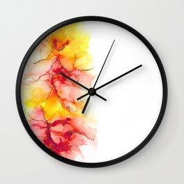 Fire Flower Wall Clock