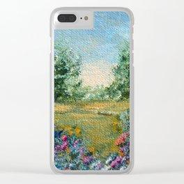 Journey 2, landscape impressionism painting Clear iPhone Case