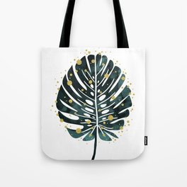 Holiday Monstera Tote Bag
