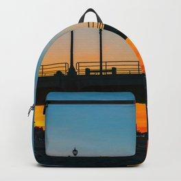 Sunrise Under Huntington Beach Pier. Backpack