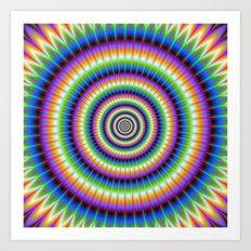 Psychedlic Rings Art Print