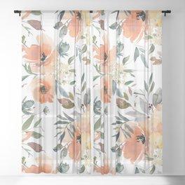 Peachy Keen Pattern Sheer Curtain