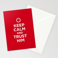 Keep Calm & Trust Him Stationery Cards