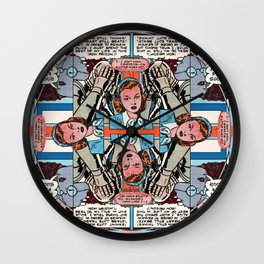 A Little Mixed Up Mandala Wall Clock