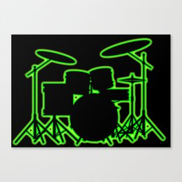 Neon Drum Kit Canvas Print
