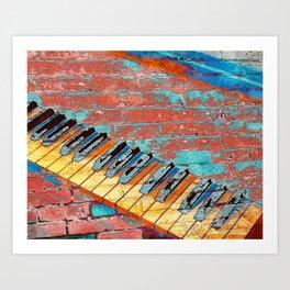 Modern Piano art vs 2 Art Print