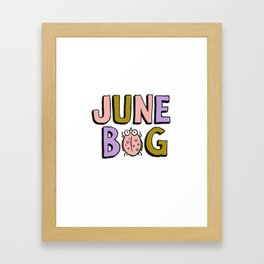 June Bug Framed Art Print