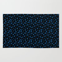 aliens Area & Throw Rugs featuring Aliens-Blue by ts55