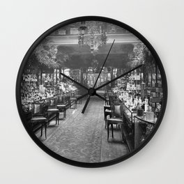 1919 Harrods Department Store, London, England Perfume Counter Vintage black and white photograph / art photography Wall Clock