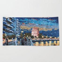 Greece: Thessaloniki In Memory Beach Towel
