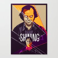 the shining Canvas Prints featuring Shining by FourteenLab