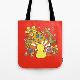 Retro Mushroom Tote Bag