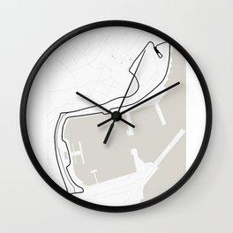 Monaco Street Circuit -  Circuit De Monaco Wall Clock