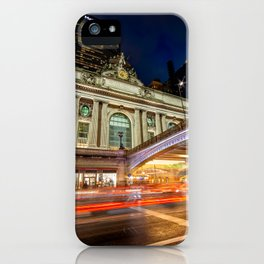 Rainy night at Grand Central Terminal 2019 vertical version iPhone Case