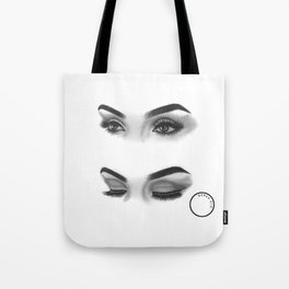 Graphite Eyes Tote Bag