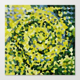 Yellow and Blue Crystallized Swirls Canvas Print