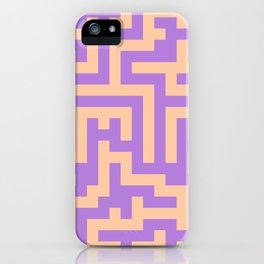 Deep Peach Orange and Lavender Violet Labyrinth iPhone Case