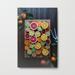 citrus #society6 #decor #buyart Metal Print