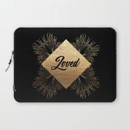 Loved - Black and Gold Design Laptop Sleeve