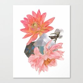 Gazelle and Flowers Canvas Print