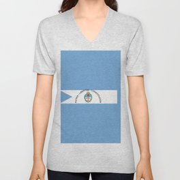 flag of Corrientes Unisex V-Neck