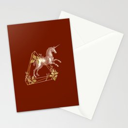 Unicorn overcoming an obstacle - Simple Illustration Stationery Cards