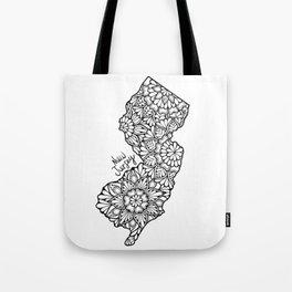 New Jersey Mandala Tote Bag