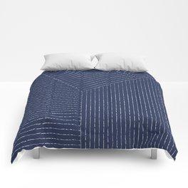 Lines (Navy) Comforters