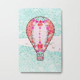 Hot Air Balloon - Colorful Escape Metal Print