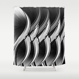 Silver and black 2020 Shower Curtain