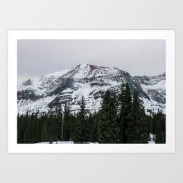 snow mountains Art Print