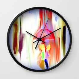 Wet and Irritated Wall Clock