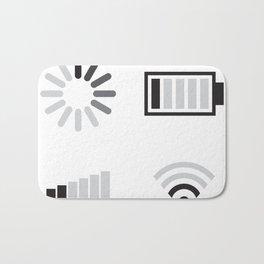 Low battery, low signal Bath Mat