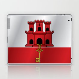 Flag of Gibraltar Laptop & iPad Skin