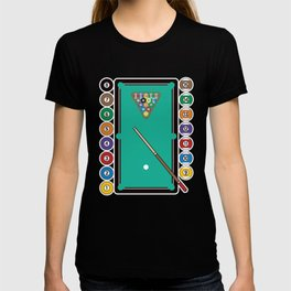 Billiards Table and Equipment T-shirt