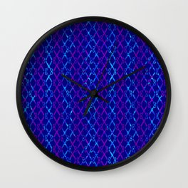 Blue Scissor Stripes Wall Clock
