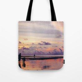Maldivian sunset Tote Bag