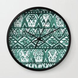 AZTECHIE Watercolor Skull Pattern Wall Clock