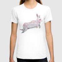 rabbit T-shirts featuring White Rabbit by Ben Geiger