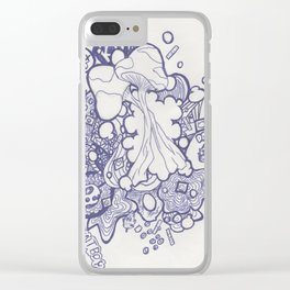 Gotta Love Psychadelics Clear iPhone Case