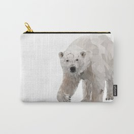 Geometric Polar Bear Carry-All Pouch
