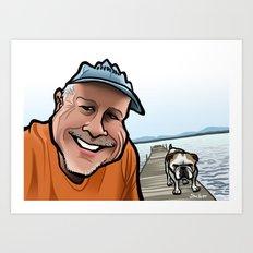 Bulldog on the Dock Art Print