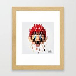 Crystal Mario Framed Art Print