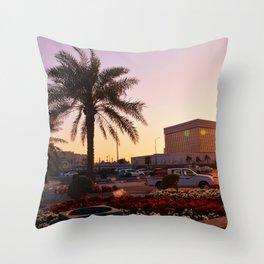 Sunset in Qatar Throw Pillow
