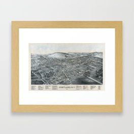 Cortland - New York - 1894 Framed Art Print