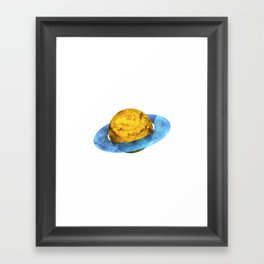 Colorful watercolor hand drawn planet. Framed Art Print