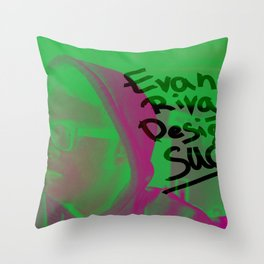 Evan Rivas Design Sucks Throw Pillow
