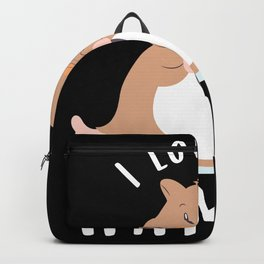 "Cute Hamster Gift ""I love my Hammy"" Backpack"