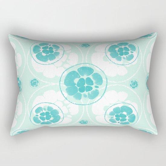 Green Lemon Pattern Rectangular Pillow