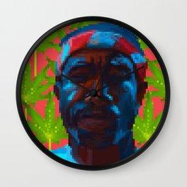 Frank  fanart with pixels Wall Clock
